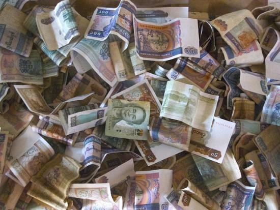 たくさんの紙幣